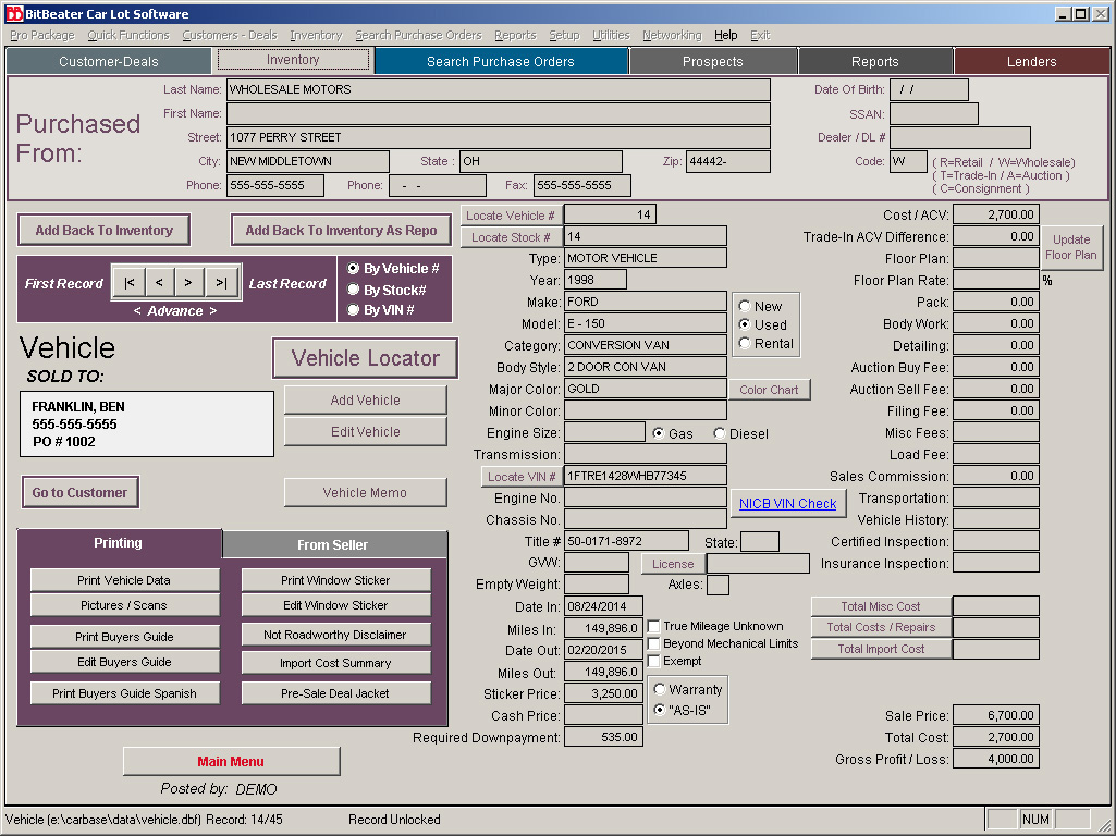 Used Car Lot Software For Used Car Lot Dealers With Inventory Buy